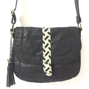 Roxy Crossbody Bag Faux Leather Shoulder Adj Strap